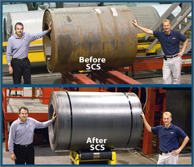 Scs Recovers Steel Through Rust Removal And Shape Correction